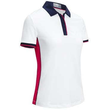 Callaway Ladies Swing Tech Colour Polo White