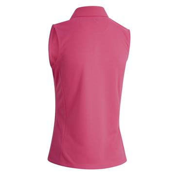 Callaway Ladies Solid Knit Sleeveless Polo Raspberry Sorbet
