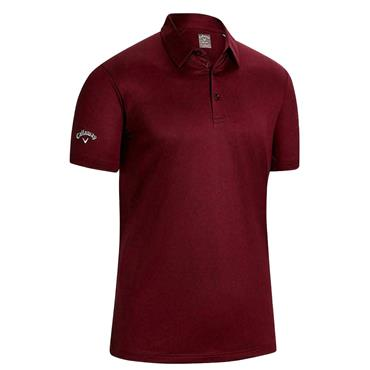 Callaway Gents Swing Tech Solid Polo Shirt Red Velvet