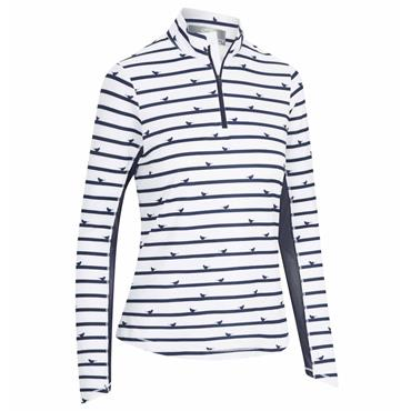 Callaway Ladies Long Sleeve Sun Protection Polo Peacoat