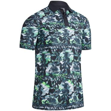 Callaway Gents Structured Print Polo Caviar