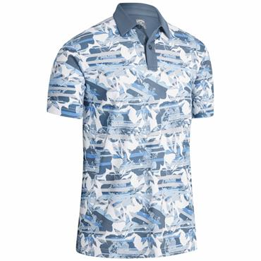 Callaway Gents Structured Print Polo White