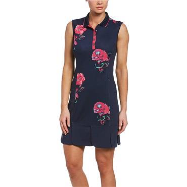 Callaway Ladies Floral Print Dress Peacoat