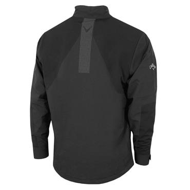 Callaway Gents 1/4 Zip Chest Stripe Wind Protection Jacket Caviar