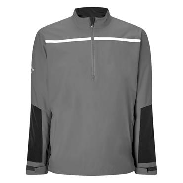Callaway Gents 1/4 Zip Chest Stripe Wind Protection Jacket Quiet Shade