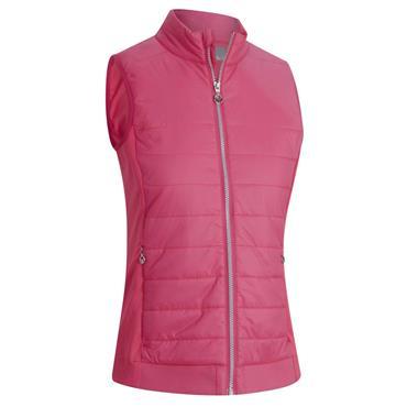 Callaway Ladies Light Weight Quilted Vest Raspberry Sorbet