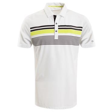 Calvin Klein Golf Gents Air Polo White - Lime