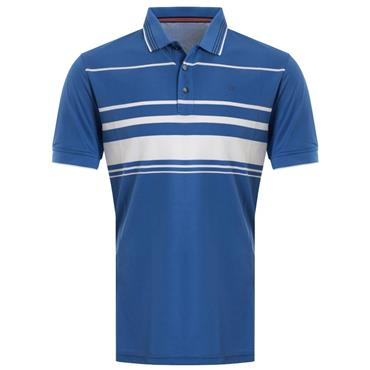 Calvin Klein Golf Gents Stadium Polo Chaotic Blue