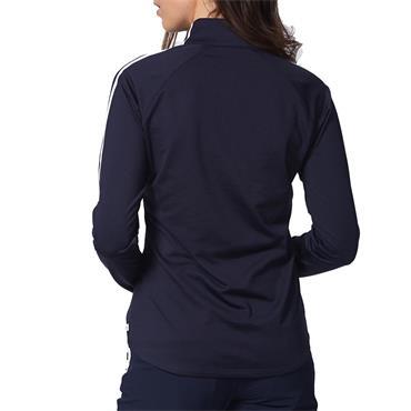Calvin Klein Golf Ladies Aquila Zip Neck Top Navy