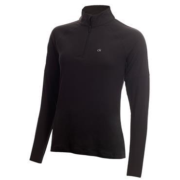 Calvin Klein Golf Ladies Kahn Zip Neck Top Black