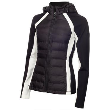 Calvin Klein Golf Ladies Calle Tech Hybrid Jacket Black - White