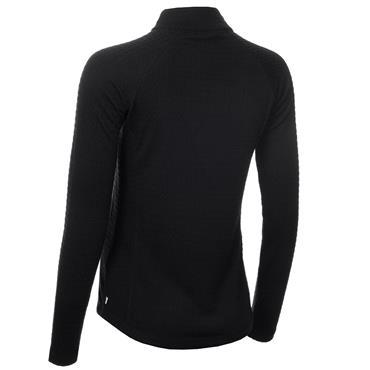 Calvin Klein Golf Ladies Mina Zip Neck Top Black