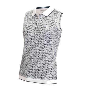 Calvin Klein Golf Ladies Solana Sleeveless Polo Shirt Powder