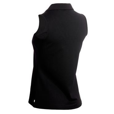 Calvin Klein Golf Ladies Pedro Sleeveless Polo Shirt Black - White