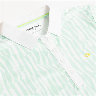 Calvin Klein Golf Ladies Sunray Polo Aqua - White