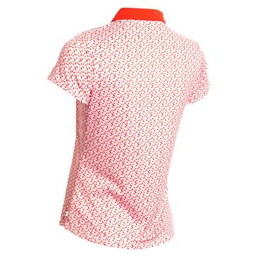 Calvin Klein Golf Ladies Sunray Polo Scarlet