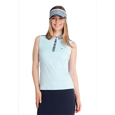 Calvin Klein Golf Ladies Catalina Sleeveless Polo Shirt Powder
