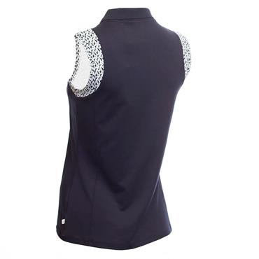 Calvin Klein Golf Ladies Catalina Sleeveless Polo Shirt Navy