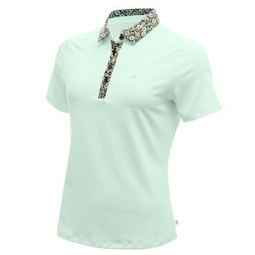 Calvin Klein Golf Ladies Crest Polo Shirt Aqua - Black