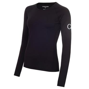 Calvin Klein Golf Ladies Vibe Long Sleeve T- Shirt Black