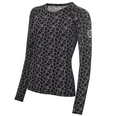 Calvin Klein Golf Ladies Vibe Long Sleeve T- Shirt Black - White