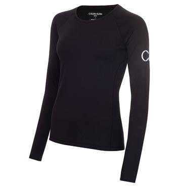 Calvin Klein Golf Ladies Vibe Long Sleeve T- Shirt Jet Black