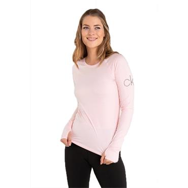 Calvin Klein Golf Ladies Vibe Long Sleeve T- Shirt Pink