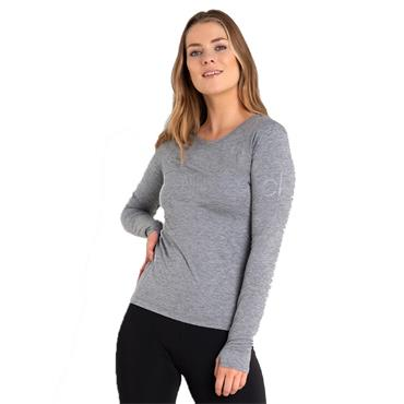 Calvin Klein Golf Ladies Vibe Long Sleeve T- Shirt Silver