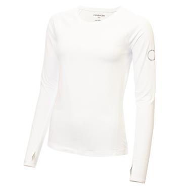 Calvin Klein Golf Ladies Vibe Long Sleeve T- Shirt White