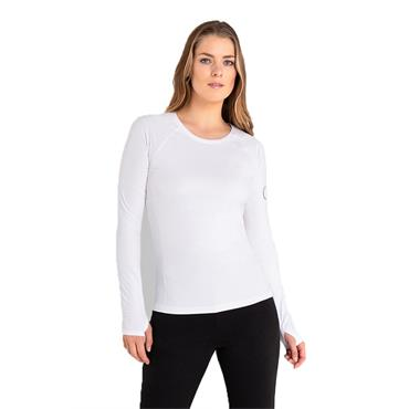 Calvin Klein Golf Ladies Vibe Long Sleeve T- Shirt White