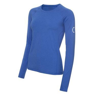 Calvin Klein Golf Ladies Vibe Long Sleeve T- Shirt Yele Blue Marl