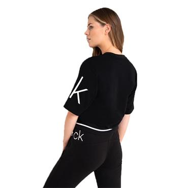 Calvin Klein Golf Ladies Chill Cropped Sweat Top Black