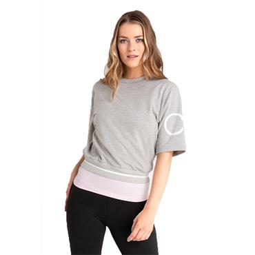 Calvin Klein Golf Ladies Chill Cropped Sweat Top Grey Marl