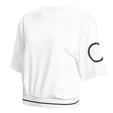 Calvin Klein Golf Ladies Chill Cropped Sweat Top White