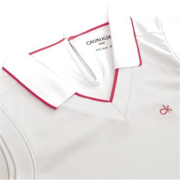 Calvin Klein Golf Ladies Caspian Sleeveless Polo White - Jete