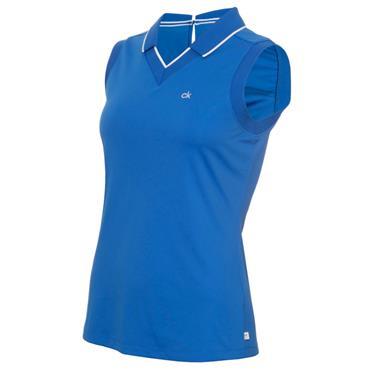 Calvin Klein Golf Ladies Caspian Sleeveless Polo Yale Blue