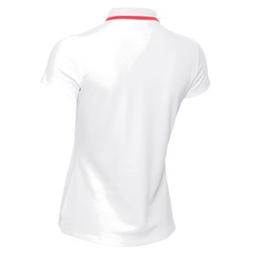 Calvin Klein Golf Ladies Ness Cap Sleeve Polo White - Jete