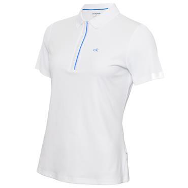 Calvin Klein Golf Ladies Elbe Polo White Yale