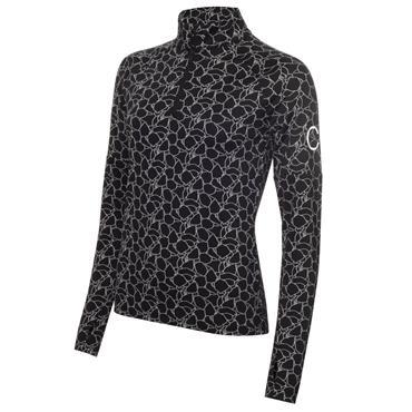 Calvin Klein Golf Ladies 1/4 Zip Layering Top Black - White