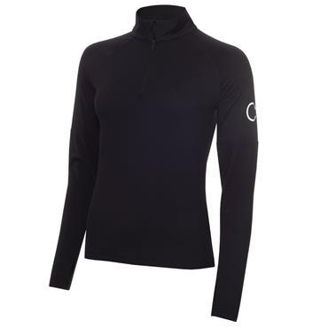 Calvin Klein Golf Ladies 1/4 Zip Layering Top Jet Black