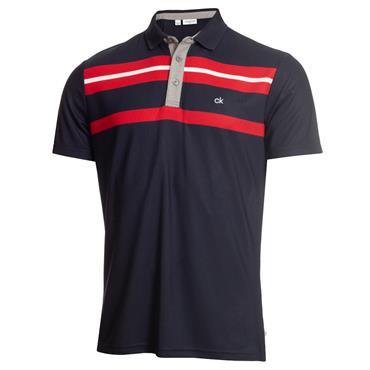 Calvin Klein Golf Gents Anchor Polo Navy - Red