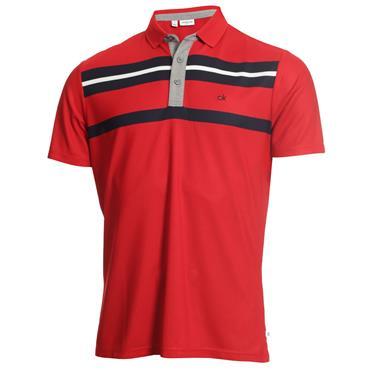 Calvin Klein Golf Gents Anchor Polo Red - Navy