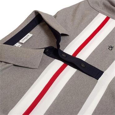 Calvin Klein Golf Gents Anchor Polo Shirt Grey - White