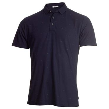 Calvin Klein Golf Gents Monogram Polo Shirt Navy
