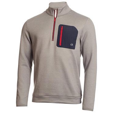 Calvin Klein Golf Gents Voyage 1/2 Zip Sweater Grey Marl