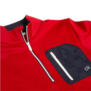Calvin Klein Golf Gents Voyage 1/2 Zip Sweater Red