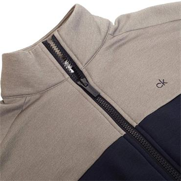 Calvin Klein Golf Gents Atlas Full ZIp Sweater Navy - Grey
