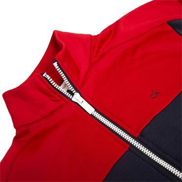 Calvin Klein Golf Gents Atlas Full ZIp Sweater Navy - Red
