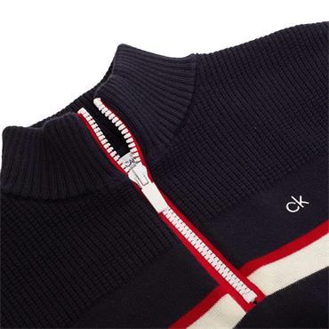 Calvin Klein Golf Gents Compass 1/2 Zip Lined Sweater Navy