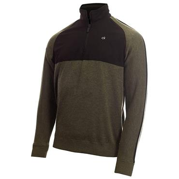 Calvin Klein Golf Gents Glacier Lined ½ Zip Sweater Olive - Navy